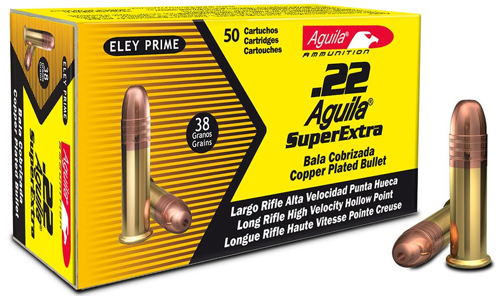 Aguila 1b222335 Standard High Velocity 22 Long Rifle (Lr) 38 Gr Hollow Point 50 Bx/100 Cs