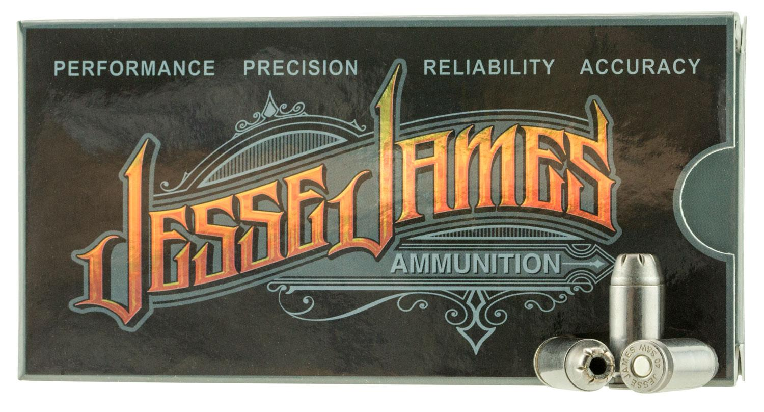 Ammo Inc 40180hpjj20 Jesse James 40 Smith & Wesson (S & W) 180 Gr Hollow Point 20 Bx/10 Cs