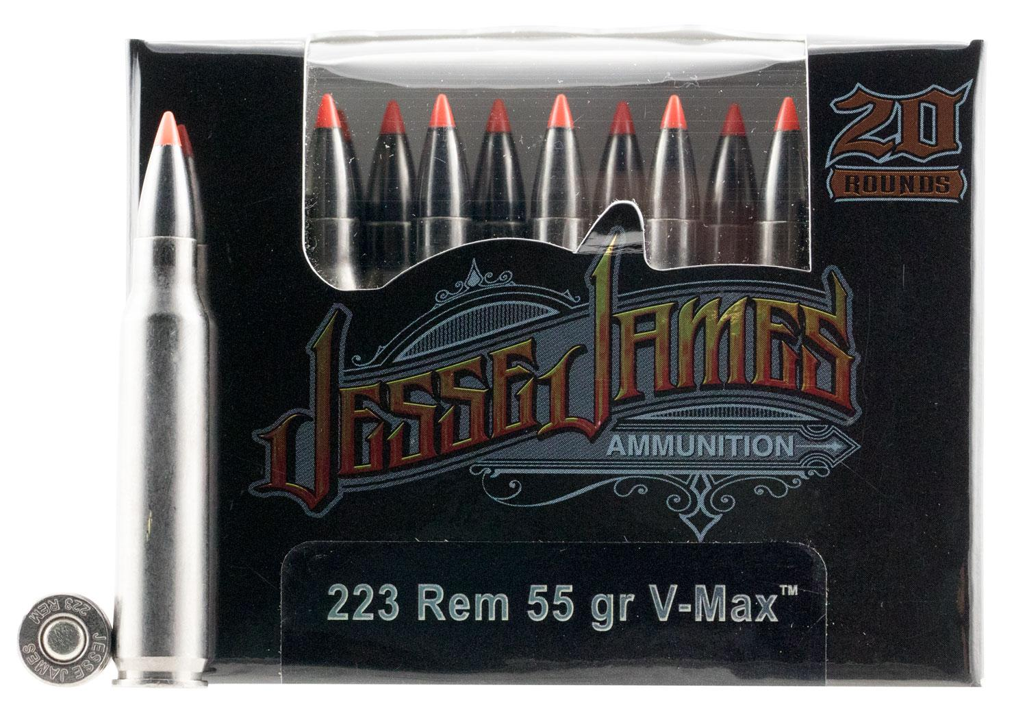 Ammo Inc 23055vmxjj20 Jesse James 223 Remington/5.56 Nato 55 Gr V- Max 20 Bx/10 Cs