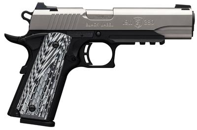 Browning 051925492 1911-380 Black Label Pro Compact with Rail Single 380 Automatic Colt Pistol (ACP) 3.625