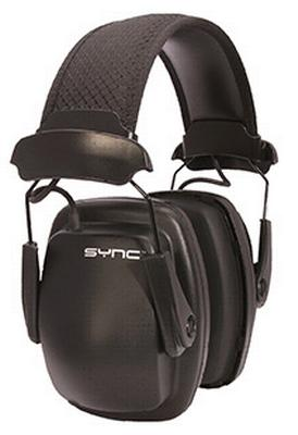 Howard Leight 1030110 Sync Stereo Earmuffs Electronic 25 dB Black