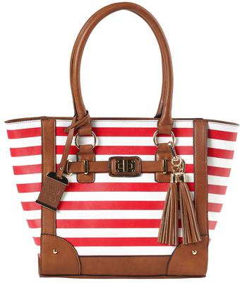 Bulldog BDP051 Tote Style Purse Most Small Pistols/Revolvers Leather Cherry Stripe