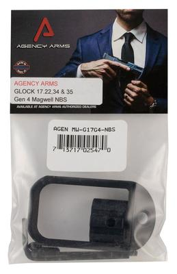 Agency Arms MW-G17G4-NBS Magwell Compatible with Glock 17 Gen4  6061-T6 Aluminum Black Hardcoat Anodized