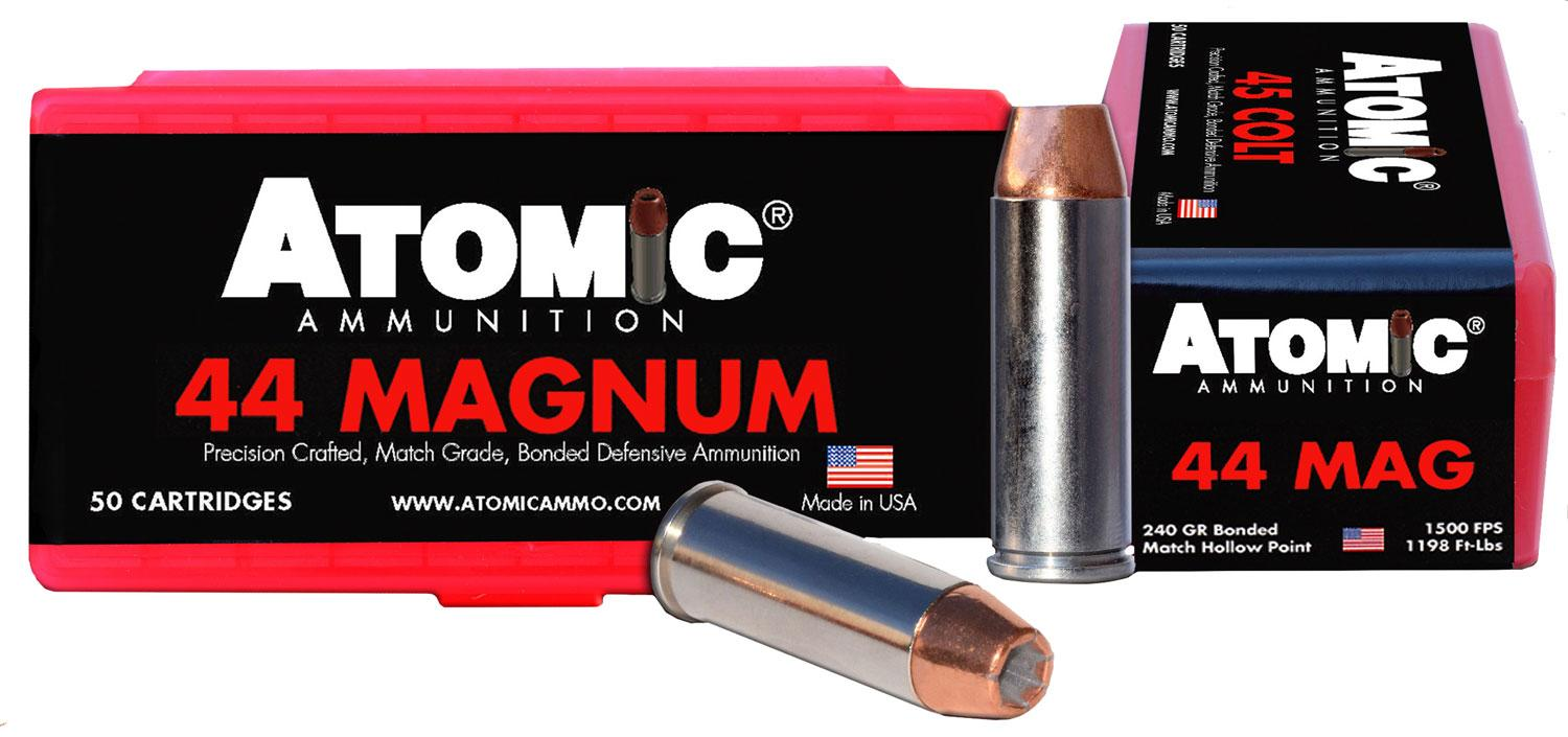 Atomic 00440 Match 44 Remington Magnum 240 Gr Bonded Match Hollow Point 50 Bx/10 Cs