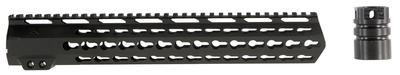 Aim Sports MTK13H308 AR Rifle Keymod Handguard 6061-T6 Aluminum Black Hard Coat Anodized 13.5