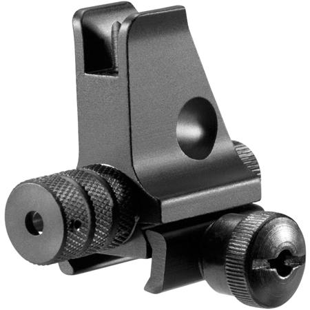 Barska Aw11880 Front Sight Ar Style With Intergrated Red Laser Ar- 15/M4/M16 Aluminum Red Black
