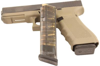 ETS MAG FOR GLK 17 9MM 10RD SMOKE
