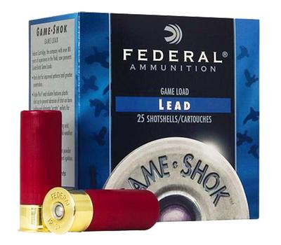 Federal H12675 Game-Shok High Brass Lead 12 Gauge 2.75