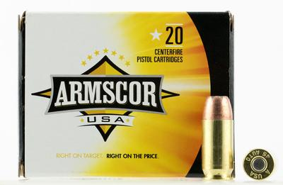 Armscor AC45A10N 45 Automatic Colt Pistol (ACP) 230 GR Jacketed Hollow Point 20 Bx/ 50 Cs