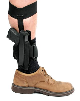 Blackhawk 40AH12BKL Ankle Holster  12 Black Knit Fabric