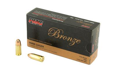 PMC 9A Bronze Target 9mm 115GR FMJ 50Box/20Case