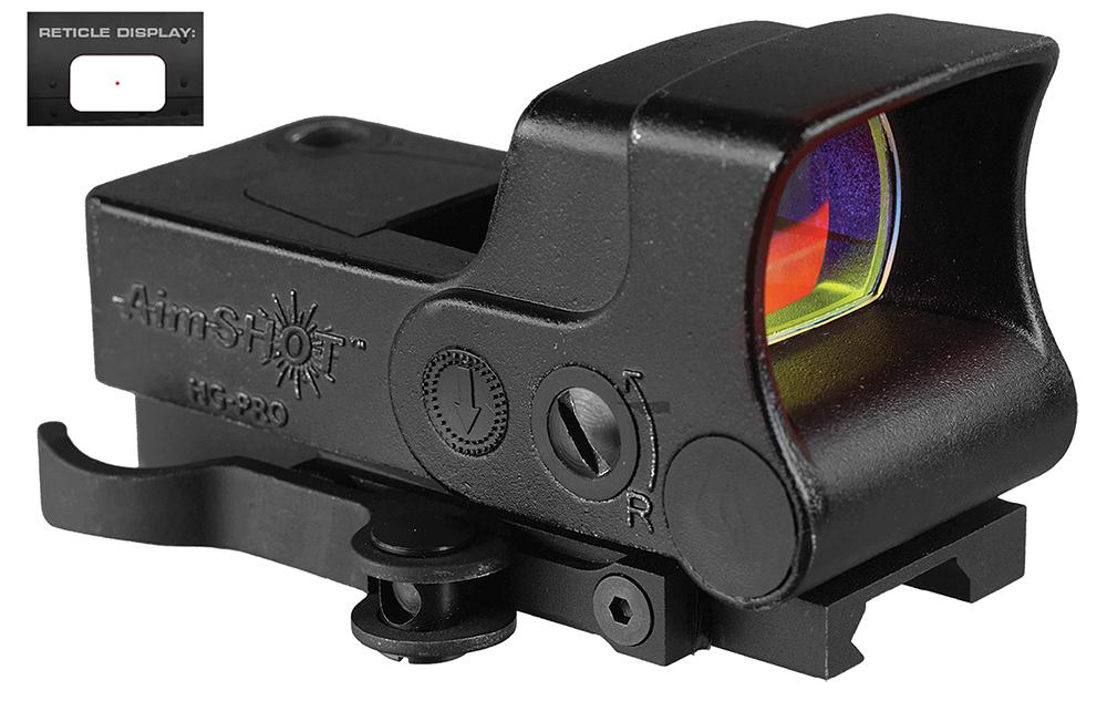 Aimshot Hgproa Hg- Pro 1x 34mm Obj Unlimited Eye Relief 5 Moa Black Matte