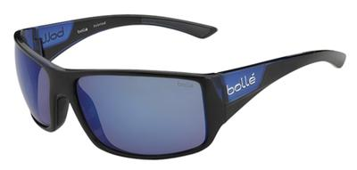 Bolle 11928 Tigersnake Sporting Glasses Shiny Black/Matte Blue Frame Blue Mirror Lens