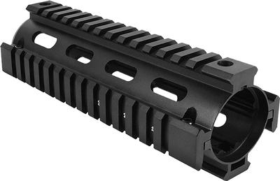 Aim Sports MT021 AR-15 Quad Rail Forend 2 Piece Aluminum Black