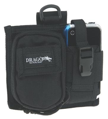 Drago Gear 16303BL Recon Camera & Phone Utility Case 600 Denier Polyester Black