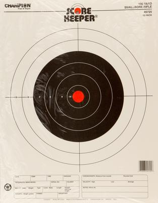 Champion Targets 45725 Scorekeeper Small Bore Rifle 12 Pack