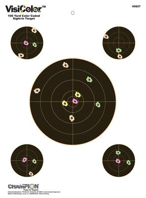 Champion Targets 45827  VisiColor Interactive Paper Target 8