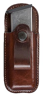 Bianchi 23174 21 Open Top Mag Pouch Colt Govt 45 Tan Leather