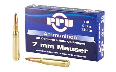 PPU 7MM MAUSER SP 139GR 20/500