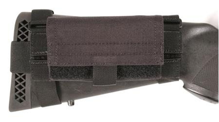 Blackhawk 52bs02bk Buttstock Shotgun Shell Pouch Black Nylon
