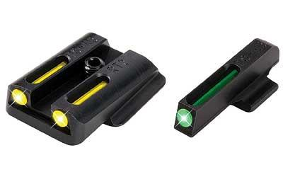 Truglo TG131RT2Y Brite-Site TFO Ruger LC Tritium/Fiber Optic Green Front Yellow Rear Black