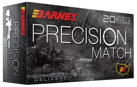 Barnes Bullets 30818 Precision Match 308 Win/7.62 Nato 175 Gr Otm 20 Bx/10 Cs
