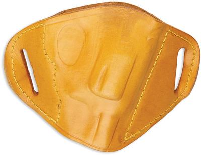 Bulldog MLTS Belt Slide Small Automatic Handgun Holster Right Hand Leather Tan