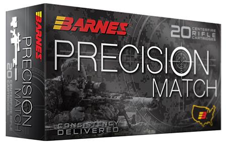 Barnes 30846 Precision Match 5.56 Nato 69 Gr Otm 20box/10case