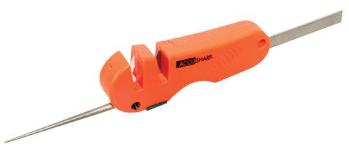 Accusharp 028c Knife And Tool Sharpener 4- In- 1 Tungsten Carbide