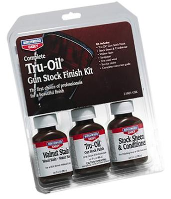 Birchwood Casey 23801 Tru-Oil Stock Finish Kit Wood Finish 9 Piece
