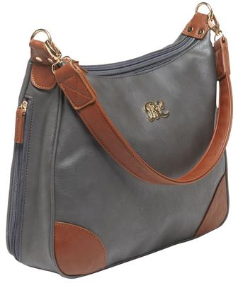 Bulldog BDP018 Hobo Purse Holster Gray w/Tan Trim Leather