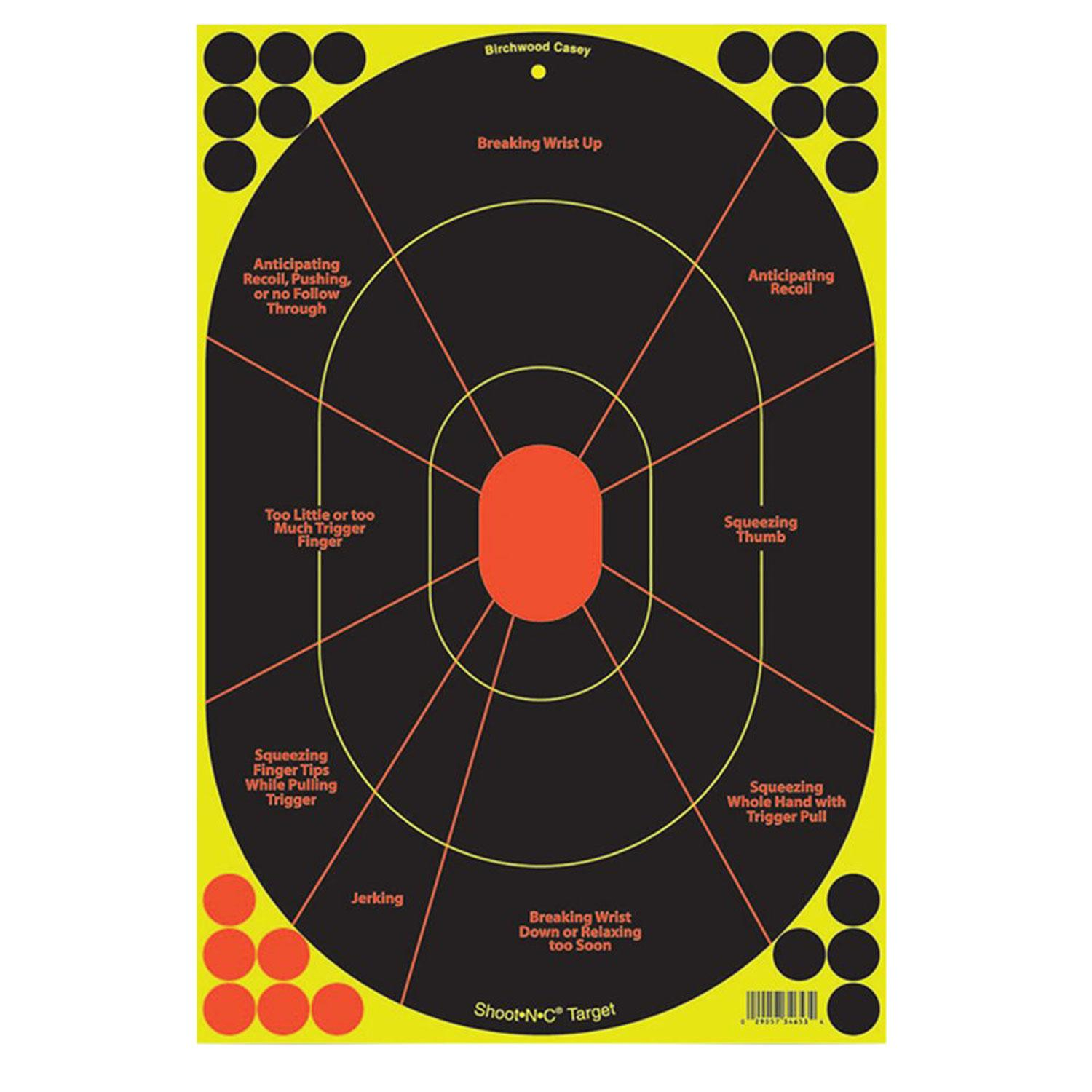 Birchwood Casey 34655 Shoot- N- C Handgun Trainer 5 Targets