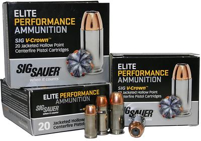 Sig Sauer E9MMA1-20 V-Crown 9mm Luger 115 GR JHP 20Box/10Case