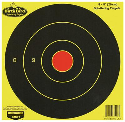 Birchwood Casey 35908 Dirty Bird Bull's-Eye Targets 8 Pac