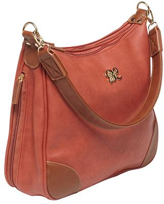 Bulldog BDP016 Hobo Purse Holster Brick Red w/Tan Trim Leather