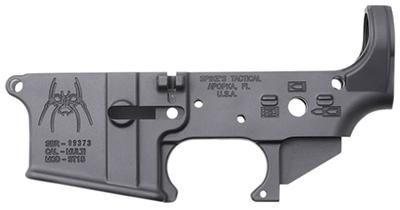 Spikes STLS019 Stripped Lower Spider w/Bullet Markings AR-15 Multi-Cal Blk