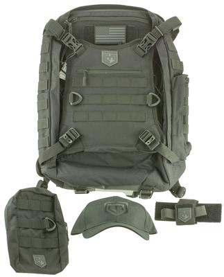 Cannae Pro Gear Phalanx Full Size Duty Pack Tactical Bundle Backpack Cordura/Pouch/Holster/Cap/Patch Black