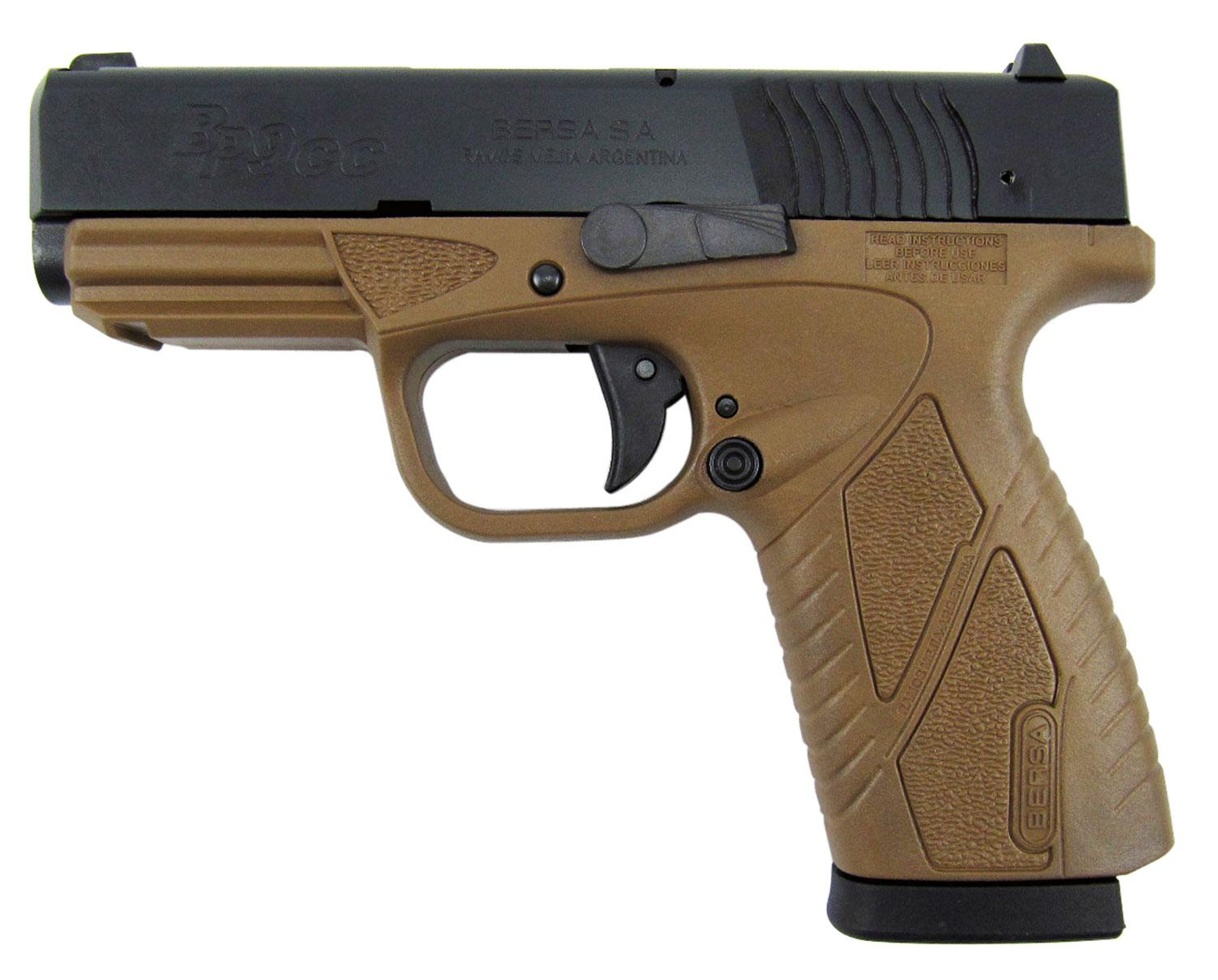 Bersa Bp9decc Bpcc Concealed Carry Double 9mm Luger 3.3