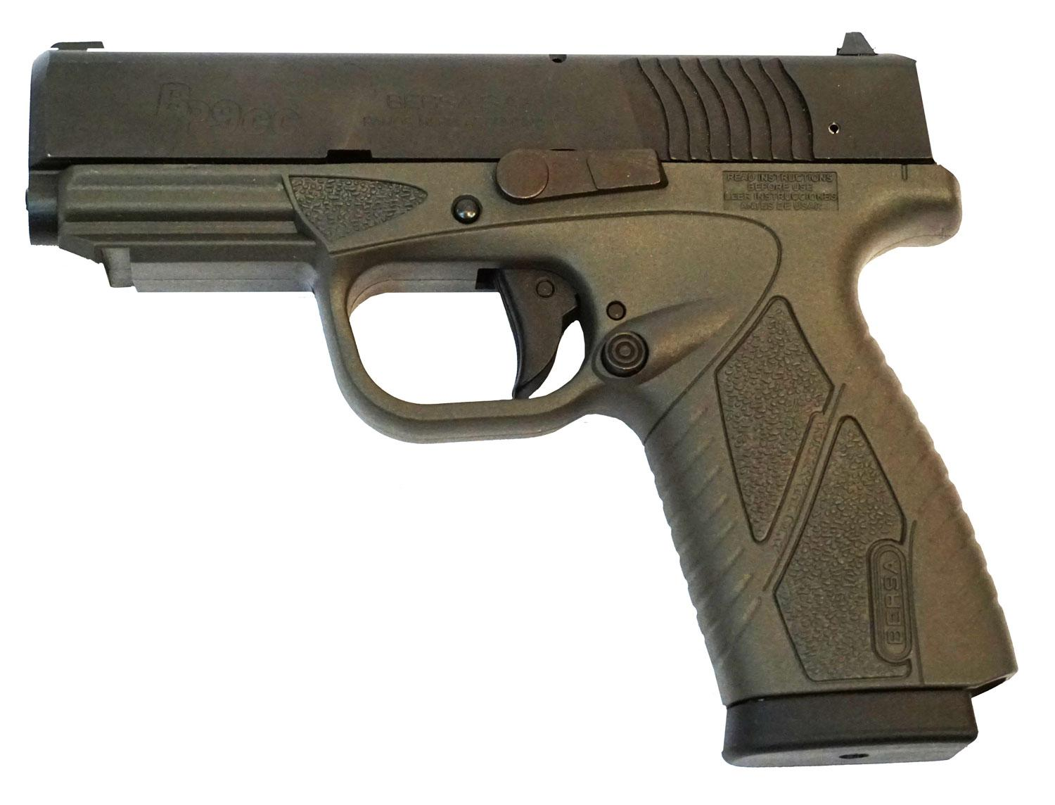 Bersa Bp9grcc Bpcc Concealed Carry Double 9mm Luger 3.3