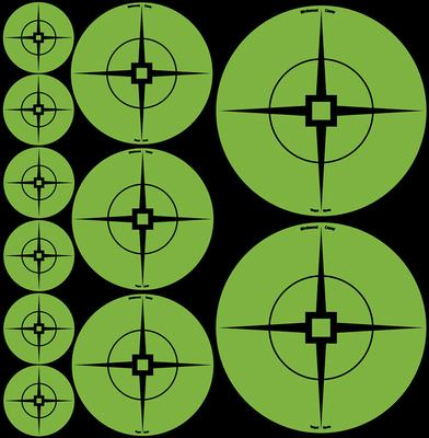 Birchwood Casey 33938 Target Spots Green Crosshair Self-Adhesive 1