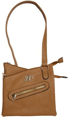 Bulldog BDP032 Cross Body Purse Holster 9.5x9.5x1.5 Tan Leather