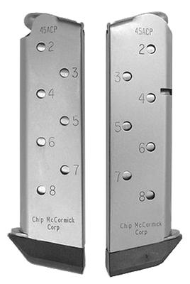 Chip McCormick Custom 14111 1911 45 ACP 8 rd Stainless Steel Finish