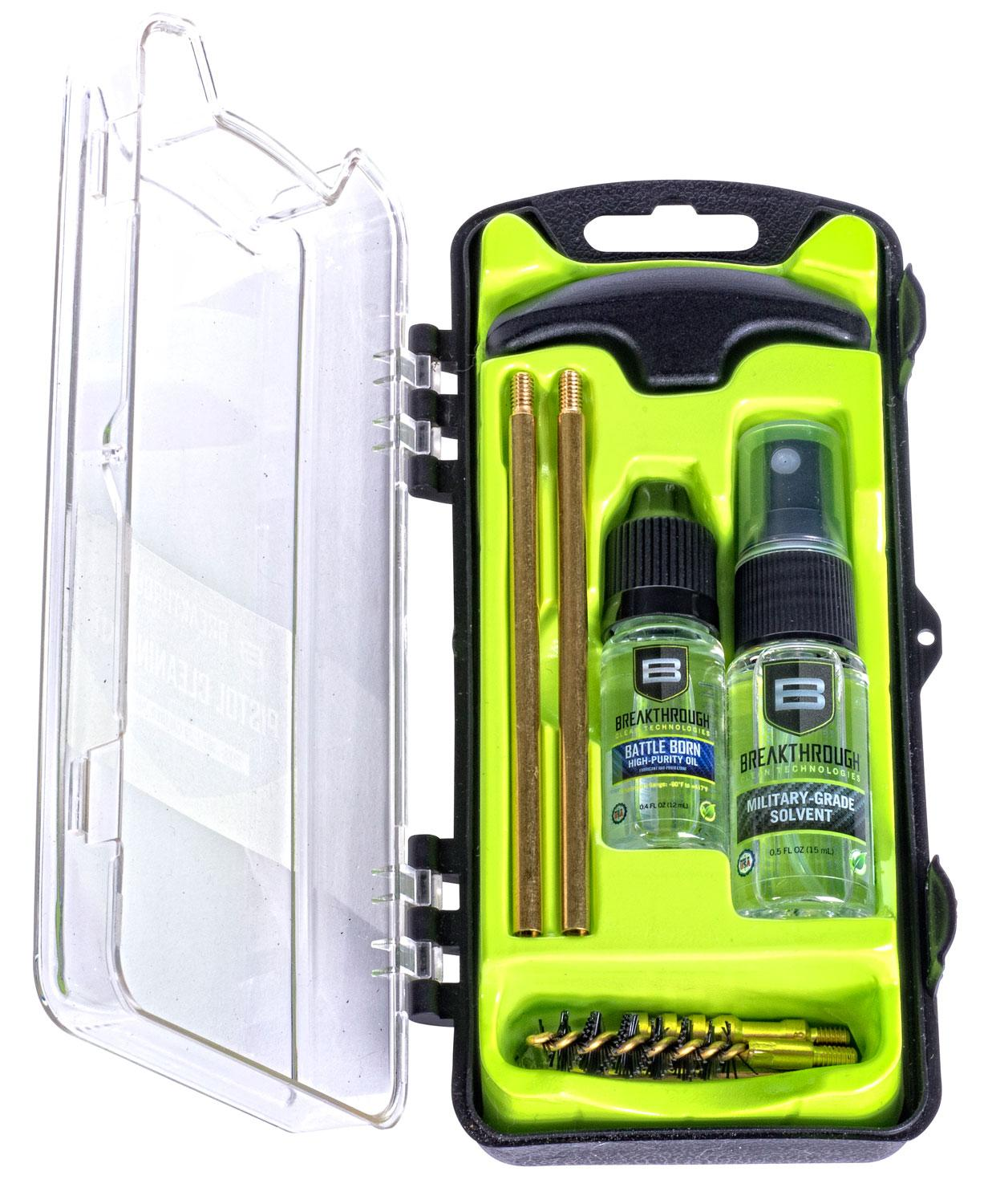 Breakthrough Clean Btecc Vision Series Pistol Cleaning Kit 9mm/38/357 Cal