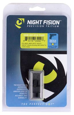 Night Fision SAW201014YGZ Night Sight Set Square Front/U-Notch Rear S&W M&P/SD9 VE/SD40 VE Green Tritium w/Yellow Outline   Black