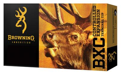 Browning Ammo B192227001 BXC Controlled Expansion 270 Winchester Short Magnum (WSM) 145 GR Terminal Tip 20 Bx/ 10 Cs