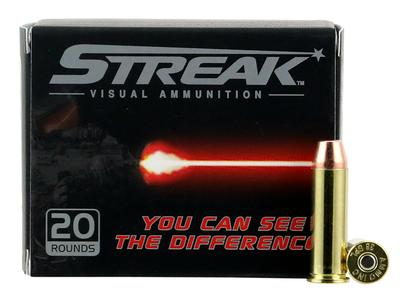 Ammo Inc 38125TMCSTRK Streak Red 38 Special 125 GR Total Metal Jacket 20 Bx/ 10 Cs