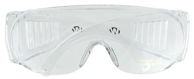 Walkers Game Ear GWPFCSGLCLR Shooting Glasses Full Coverage Wraparound Polycarbonate Clear