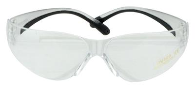Walkers Game Ear GWPYWSGCLR Shooting Glasses Youth & Women Polycarbonate Clear Lens Black