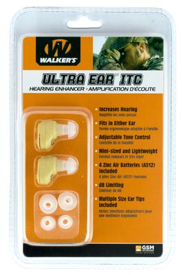 Walkers Game Ear GWPUE2002 Ultra Ear ITC Pair Electronic  Tan