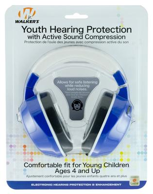 Walkers Game Ear GWPYAMRY Youth Active Muff Electronic 22 dB Blue